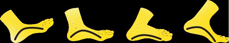 Ammortizzazione del piede durante la corsa